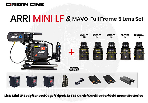 ARRI Alexa Mini LF & Mavo Full Frame Prime Package