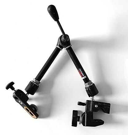 Manfrotto 143 Magic Arm Kit w/ Super Clamp, Camera Platform