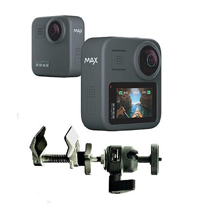 GoPro Max 360 + Mini Ball Clamp Cardellini Mount