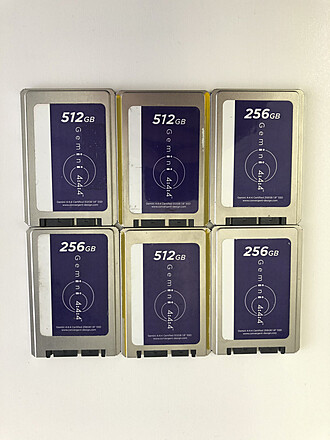 6 SSD cards for Convergent Design Gemini 4444 recorder