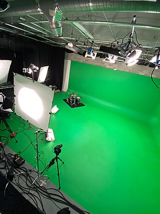 Green Cyclorama stage at