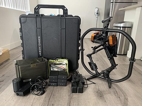 Movi Pro Gimbal with Ignite Digi Plates, 6 TB50 Batteries, Mimic & Jason Case