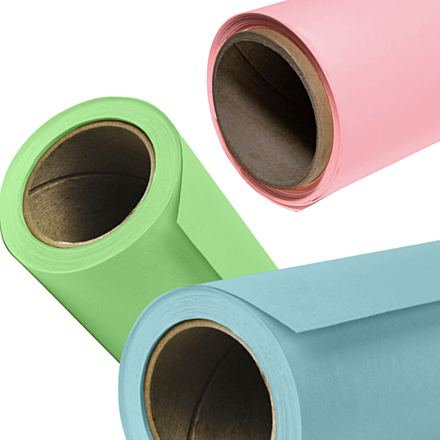 3 Savage Widetone Seamless Background Papers (Sky Blue, Coral, Mint Green)