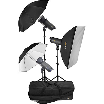 Impact VC-500WLN 500W 3 Light Strobe Kit