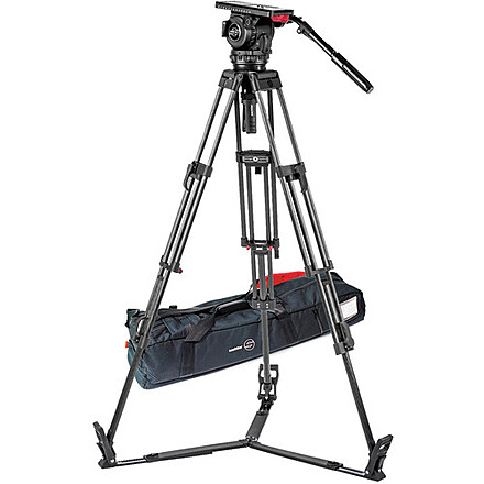 Sachtler Video 18 II Tripod System with Carbon Fiber Legs and Floor Level Spread