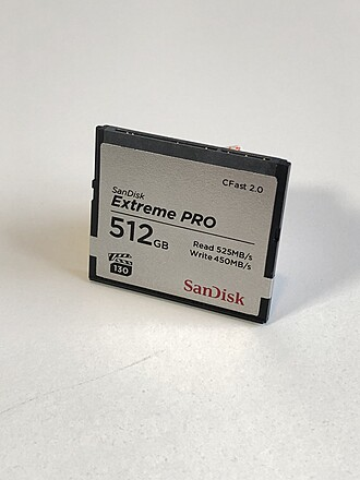 SANDISK EXTREME PRO 512GB CFAST 2.O CARD