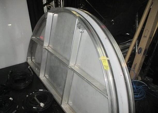 "Circle Stage Acrylic Platform Riser, 120"" x 120 x 12"" High Section"