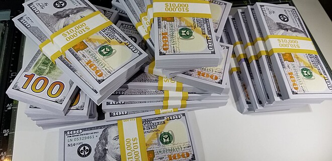 Fake money 250,000$ Fake 100 Dollar Bills REAL CASH Replica