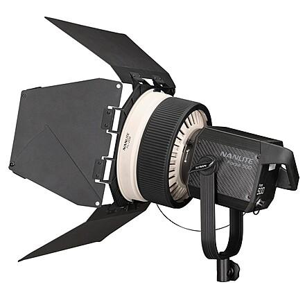 Nanlite Forza 500 LED Monolight with Nanlite fresnel lens for Forza 500