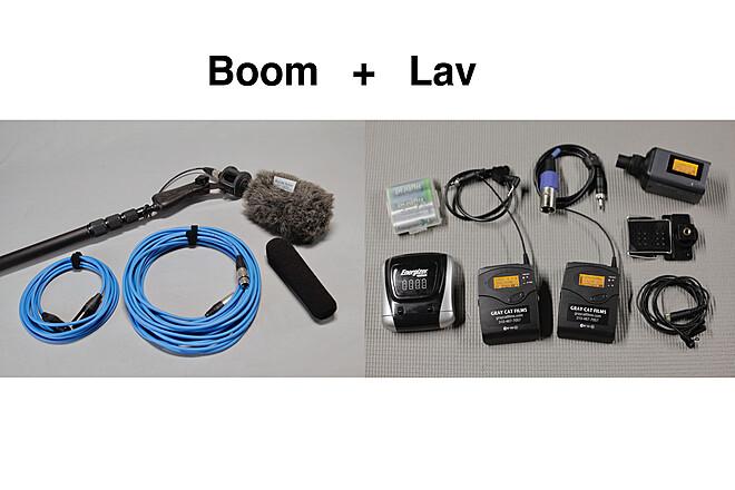 Boom Mic & Sennheiser G3 Wireless Lav Package