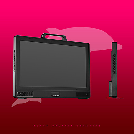 """SmallHD Cine 24"""" 4K Client Monitor + Goldmount plate + 2 batteries and C-Stand"""