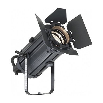 """650W Fresnel 6° - 60°, Barndoors, and 5/8"""" Receiver"""