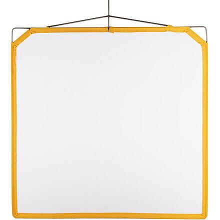 """Matthews Solid Frame Scrim White Artificial Silk (48 x 48"""")"""