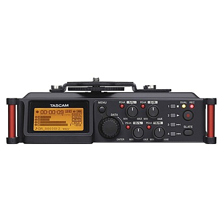 Tascam DR-70D 4-Channel Audio Recording Device, Tascam Headphones and EMB XLR