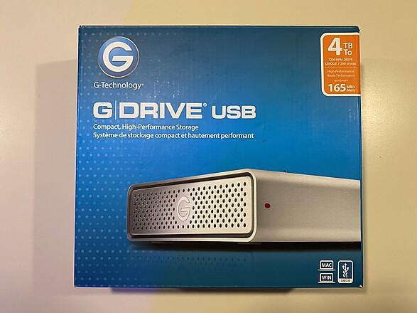 G-Drive 4TB Drive (USB-3)