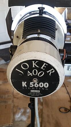 Two Joker 400w HMI's
