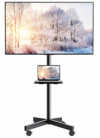 """Monitor 43"""" with Conference stand."""