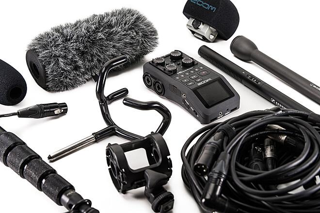 Basic Audio Kit with Zoom H6, MKE600, AT800, yolk, XLRs