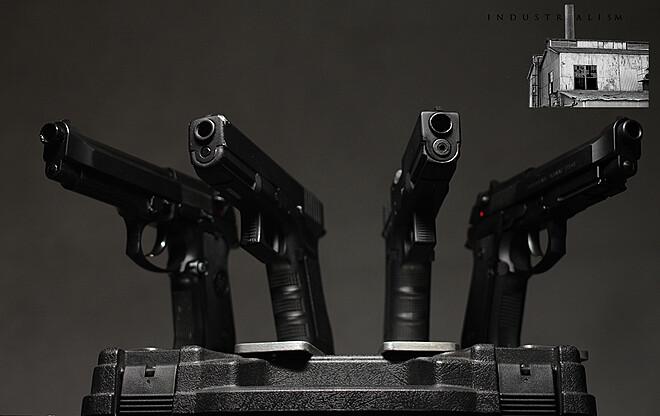 Prop Gun - (4x) Glock 17 & Beretta Bundle