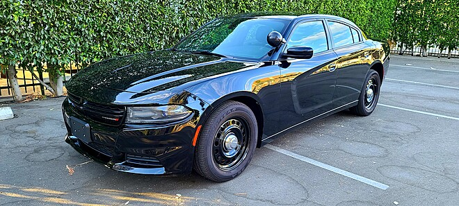 Dodge Charger Sheriff Police Car Charger Black/White picture car lapd police car