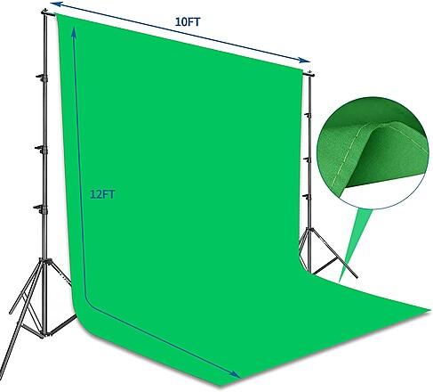 10' x 12' Green Screen Kit