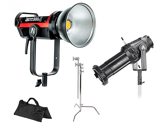 Aputure LS C300D II + Spotlight Mount + C-Stand + Sandbag (Full Kit)