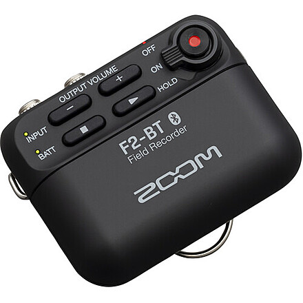 Zoom F2-BT Ultracompact Bluetooth-Enabled Portable Field Recorder with Lavalier
